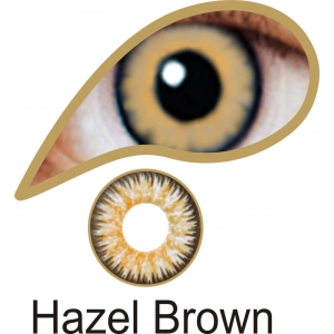 Hazel Brown Contact Lenses 3 Months