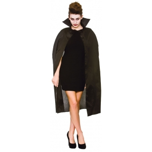 "Cape - 42"" Black With Collar"