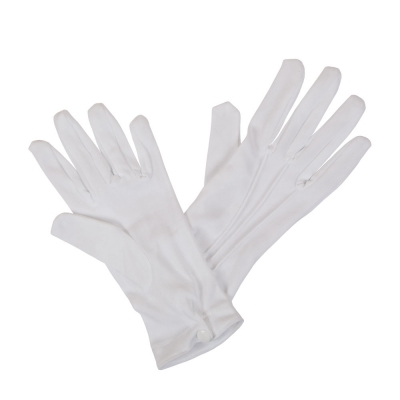 Short White Gloves  - Men's title=