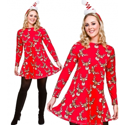 Christmas Dress - Reindeer title=