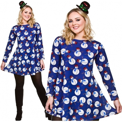 Christmas Dress - Snowman title=