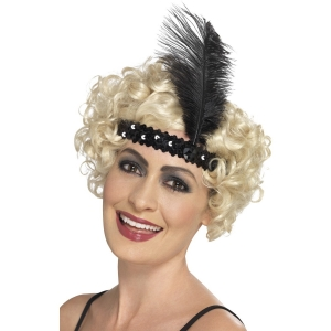 Flapper Headband - Black