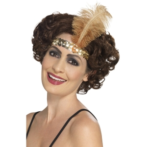 Flapper Headband - Gold