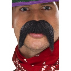 Mexican Gringo Moustache - Black