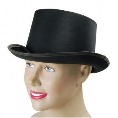 Top Hat - Black Satin title=