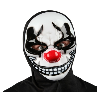 Freaky Clown Mask with Hood title=