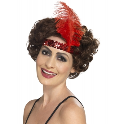 Flapper Headband - Red title=