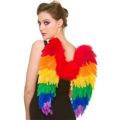 Rainbow Feather Wings title=