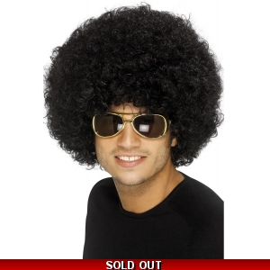 70's Funky Afro Wig - Black