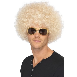 70's Funky Afro Wig - Blonde