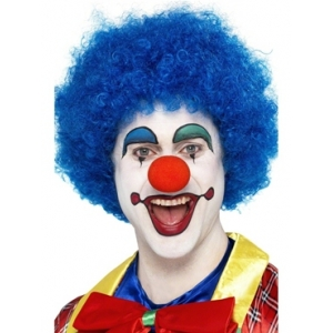 Crazy Clown Wig - Blue
