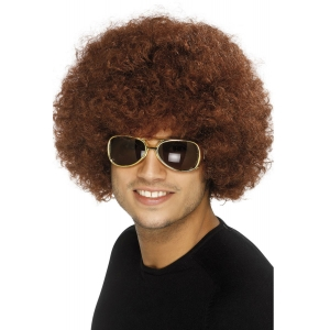 70's Funky Afro Wig - Brown