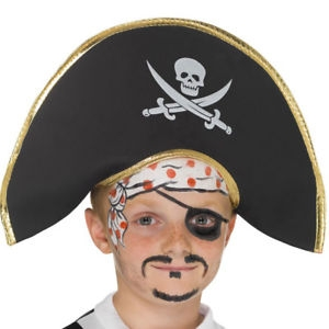 Pirate Hat with Skull & Crossbones