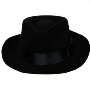 Felt Fedora Hat - Black