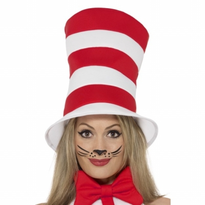 Cat in The Hat Top Hat - Official Licensed Dr Seuss title=
