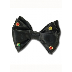 Flashing Lights Bow Tie - Black