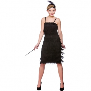 Jazzy Flapper Costume - Black
