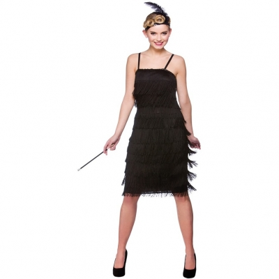 Jazzy Flapper Costume - Black title=