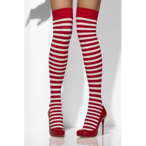 Opaque Hold-Ups - Red & White Striped
