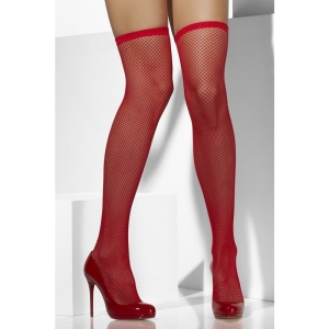 Fishnet Hold-Ups - Red