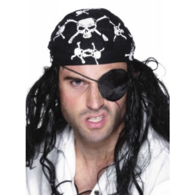 Pirate Eyepatch - Black Satin title=