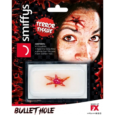 Horror Wound Transfer - Bullet Hole title=