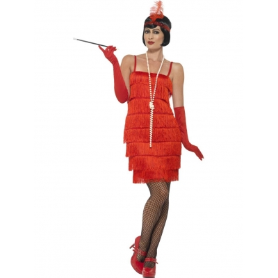 Flapper Costume - Short Red title=