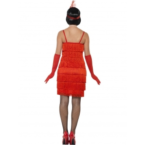 Flapper Costume - Short Red