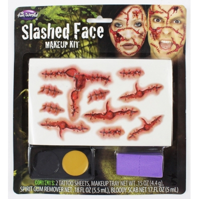 Tattoo Makeup Kit - Slashed Face title=