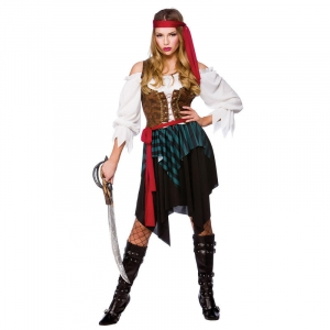 Caribbean Pirate Lady Costume