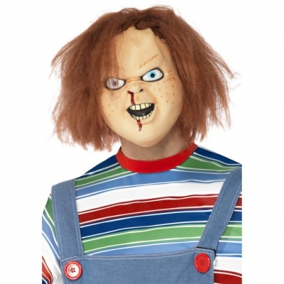 Chucky Mask with Hair - Officially Licensed Child's Play title=