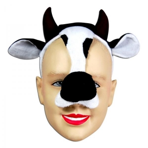 Cow Mask on Headband + ..