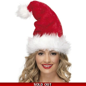 Santa Hat with Tinsel
