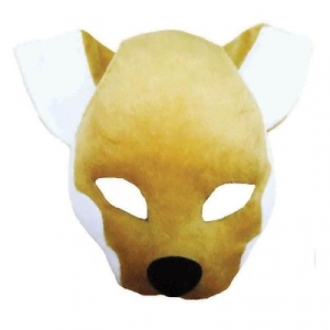 1/2 Face Fox Mask on Headband + Sound