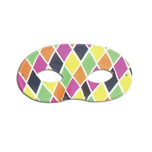 Harlequin Eye Mask - Large