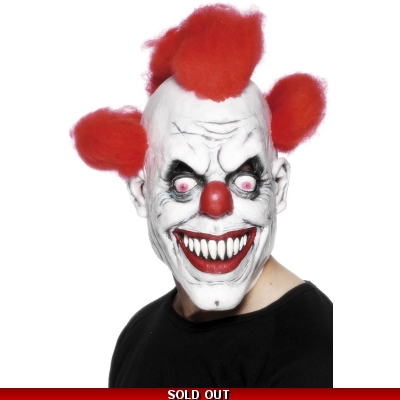 Clown Horror Mask with Hair title=