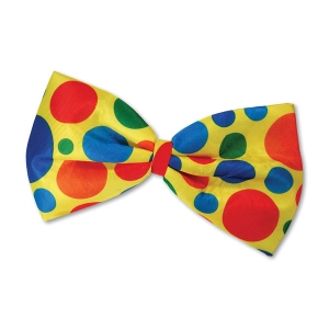 Jumbo Clown Bow Tie - Spotty