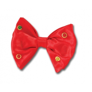 Flashing Lights Bow Tie - Red