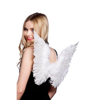 White Feather Angel Wings title=