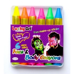 Neon UV Face Paint Crayons