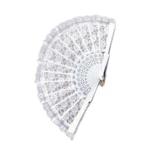 Lace Fan - White