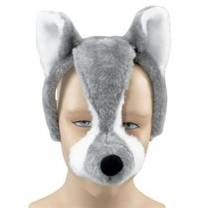 Wolf Mask on Headband +..