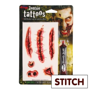 Tattoo Kit - Pirate/Zombie Stitch