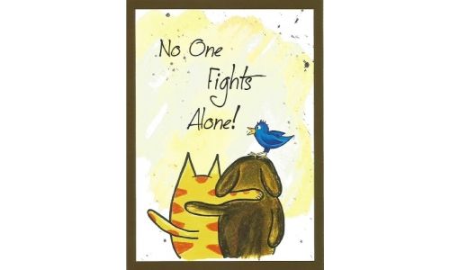 """No One Fights Alone!"" Greeting Card"