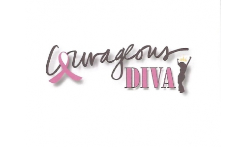 """Courageous Diva"" Note Card, Blank"