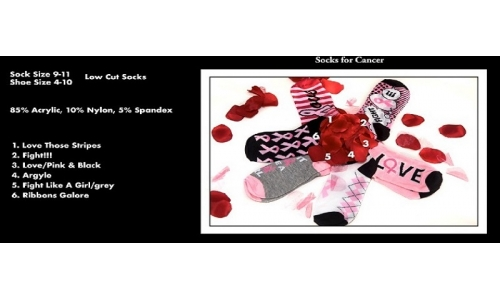 "Socks, Low Cut ""Breast Cancer Awareness"" - Bundle 402"