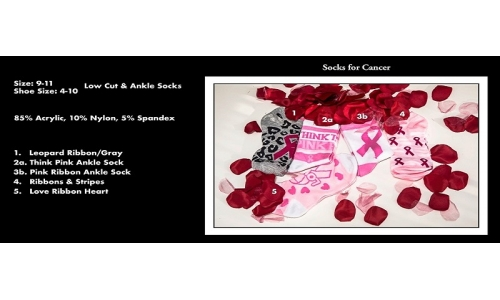 "Socks, Low Cut ""Breast Cancer Awareness"" - Bundle 405"