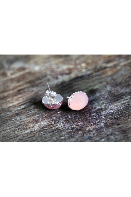 Sterling Silver Filigree Rose Quartz Earrings