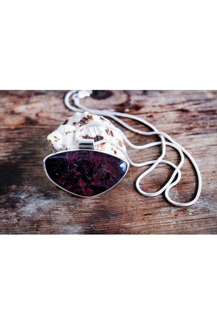 Eudialyte Silver Necklace
