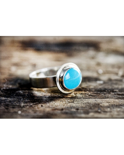 Oval Turquoise Sterling Silver Ring
